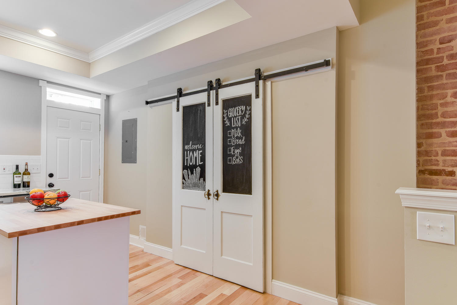 Reclaimed Barn Door Pantry Build Potomac Real Estate And